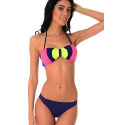 Dvoudílné plavky Susanna modré - spodní/horní díl: - XL/L